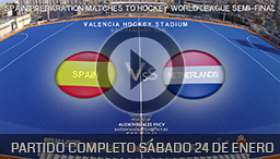 PARTIDO SPAIN-NETHERLANDS 24th JANUARY 2015