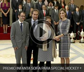 Premio Infanta Sofía:Para Special Hockey +, un proyecto auspiciado y apoyado por la Federación Española de Hockey, por fomentar la practica deportiva entre personas con discapacidad.