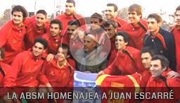 La Selección Española homenajea a Juan Escarré